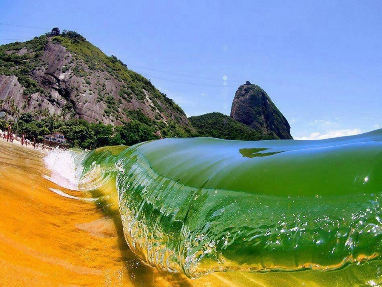 красный-пляж-Рио-де-Жанейро-Бразилия