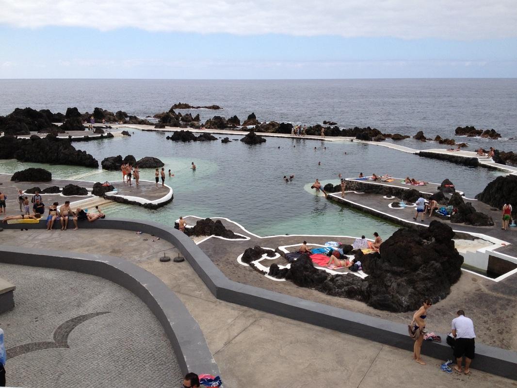 Лавовый бассейн в Мадейре, Португалия