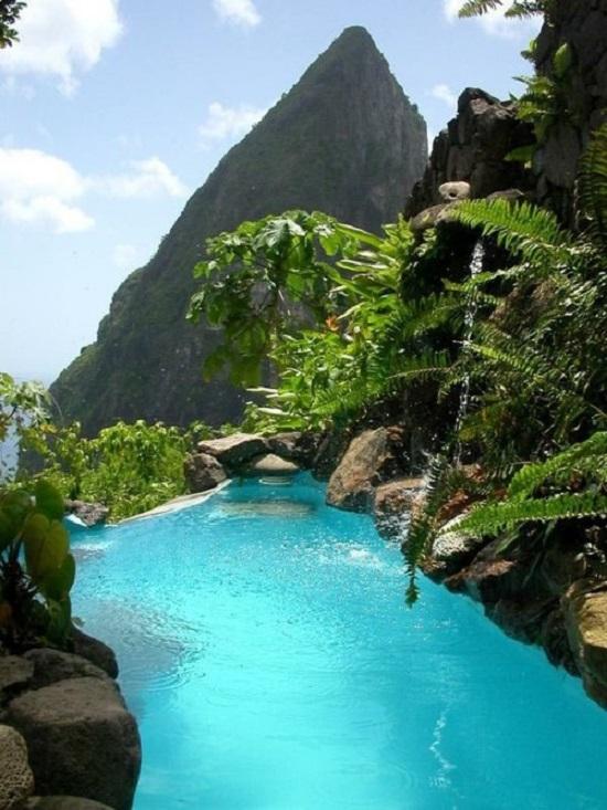 Пейзажный Бассейн, Сент-Люсия, Карибский Бассейн