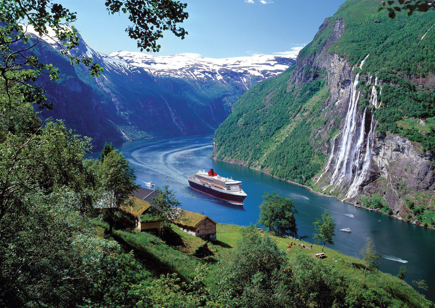 """Водопад """"Семь сестер"""", Норвегия"""