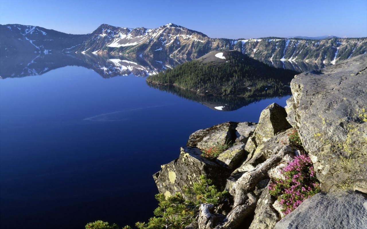 кратерное-озеро-штат-Орегон