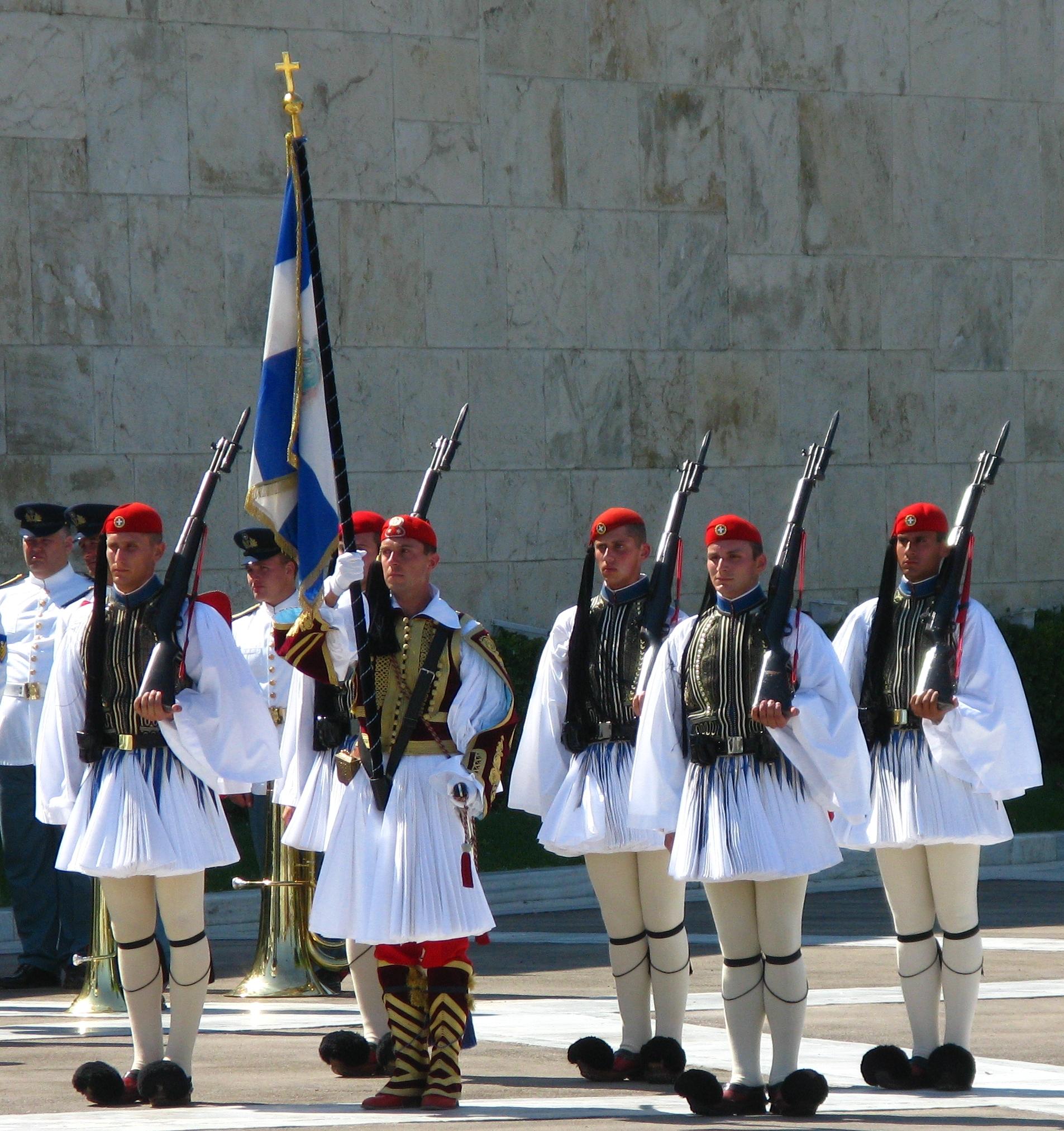 пост охраны Афины. Греция