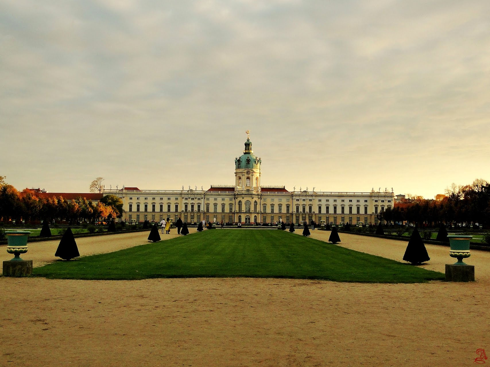 charlottenburg_palace_sunset, дворец Шарлоттенбург закат