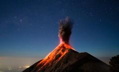 Volcano Fuego Guatemala, вулкан Корасон дель Фуэго, извержение вулкана Гватемала.