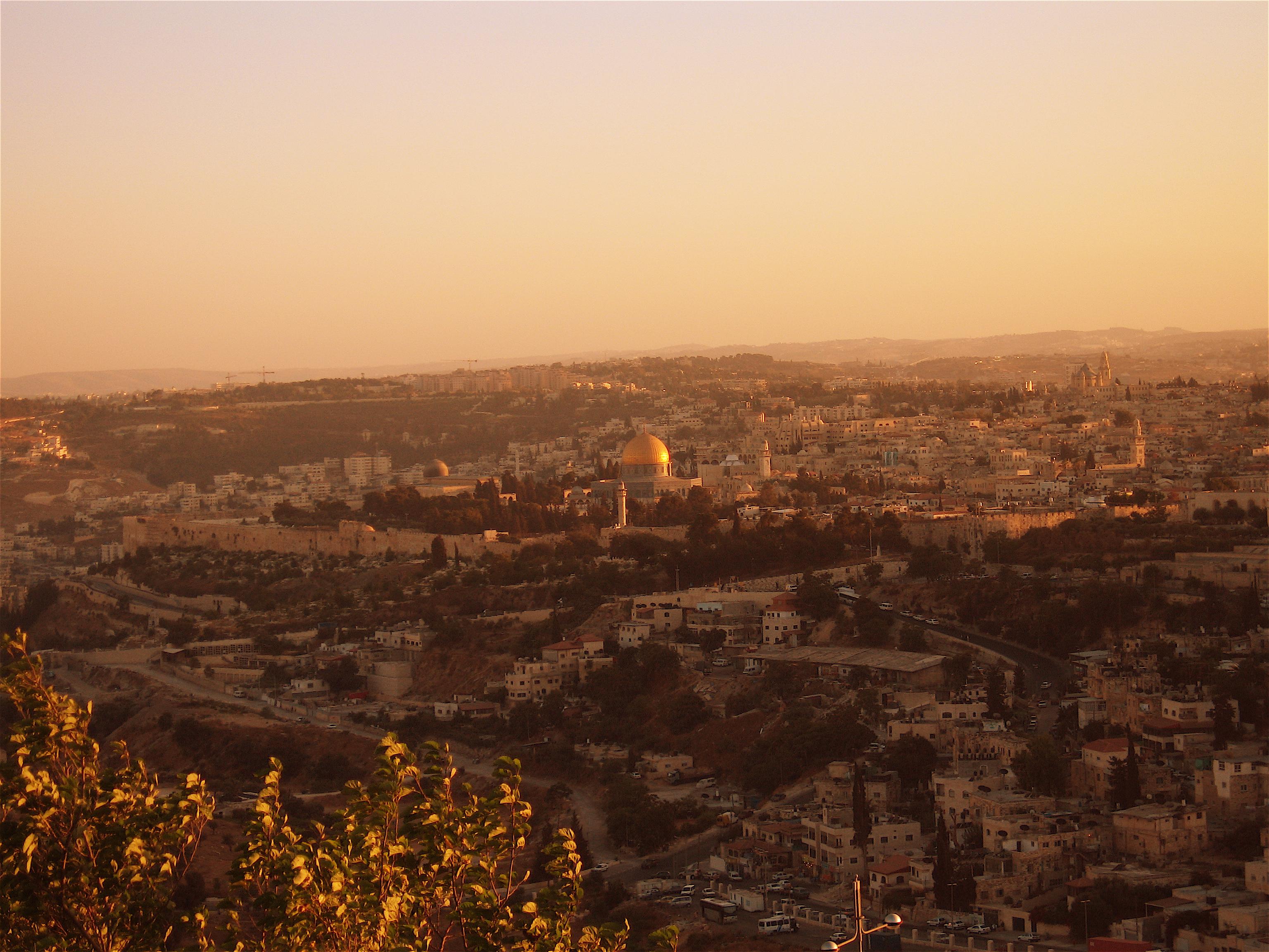 город Иерусалим на закате