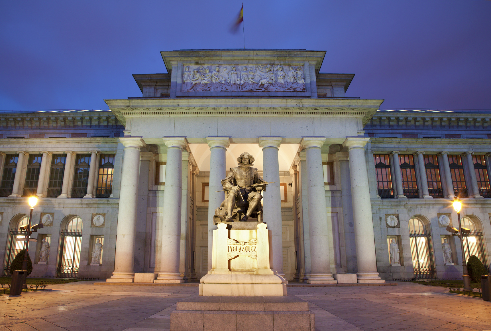 Madrid - Museo Nacional del Prado in morning dusk