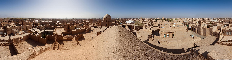 Глиняный_город_Йезд_панорама_Иран