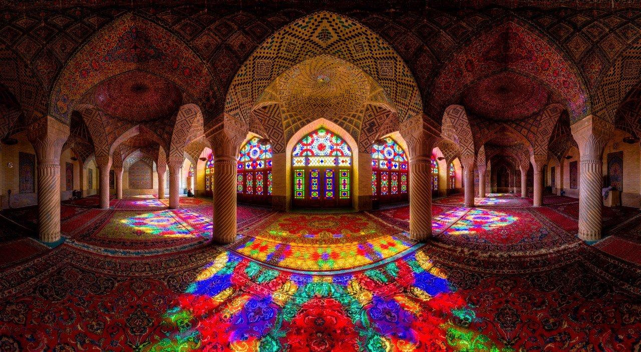 мечеть-Шираз_Иран_панорама_мечети_вечернее_освещение