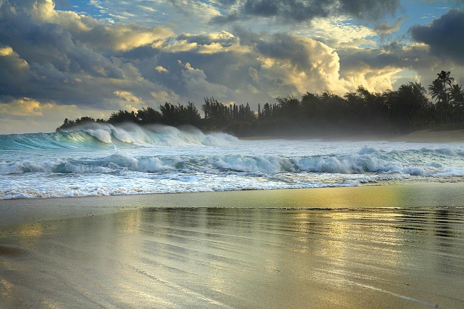 Водопады_острова_Кауаи_Гавайский_остров_США