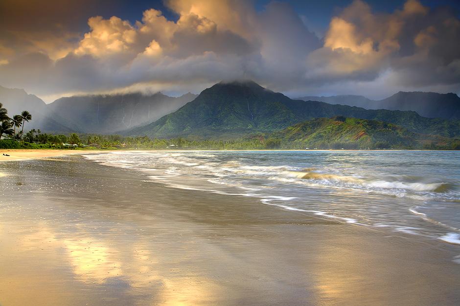 Hanalei_bey_пляжи_острова_Кауаи_Гавайи_США