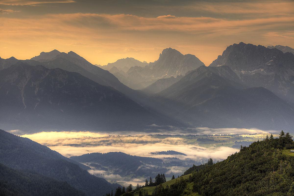 Баварские_Альпы_Alps_Europe_горы_альпийский_горный_хребет