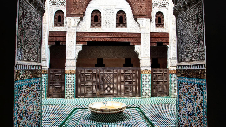 Morocco-Meknes-Madrassa-Arch-Doorway